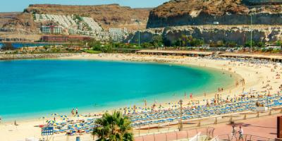 Een heerlijk strand op Gran Canaria